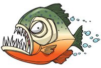 Piranha,Animal Teeth,Fish,Wildlife,Cartoon,Humor