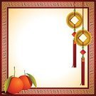 Paper,Chinese Culture,Chinese New Year,New Year's Eve,Red,Luck,Gold Colored,Confetti,Coin,Ingot,New Year's Day