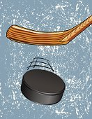Hockey Puck,Ice Hockey,Activity,Ice,Equipment,Leisure Games,Recreational Pursuit,Rubber,Hockey Stick,Leisure Activity,Single Object,Ilustration,Sport