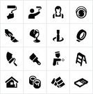 Symbol,Computer Icon,Icon Set,Construction Industry,Painting,Paint,House Painter,Paint Can,Home Improvement,Home Interior,Home Decorating,House,Paintbrush,Residential Structure,Pouring,Industry,Manual Worker,Equipment,Color Swatch,Residential District,Occupation,Black Color,Adhesive Tape,Women,Wall,Ladder,Step Ladder,Service Occupation,Paint Mixing,painting supplies,Painters Tape,Latex Paint,Paint Gun,Female,Mixing,One Person,Paint Roller,Oil Paint,Wood Stain