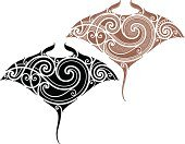 Manta Ray,Maori,Aborigine,Ray,Pattern,Shape,Design,Polynesian Culture,Tattoo,Spiral,Striped,Curve,Intricacy,Animal,Sea,Cultures,Indigenous Culture,Art,Folk Music,Shoulder,Human Skin,Ink,Vector,Black Color,Torso,Back,Decoration,Fashion,Men,Symbol,Swirl,Ilustration,Painted Image,Curled Up