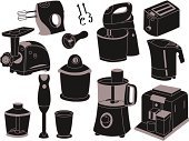 Cooking Utensil,Silhouette,Blender,Domestic Kitchen,Appliance,Kettle,Vector,Electric Mixer,Ilustration,Group of Objects,Fuel Pump,Isolated,Stirring,Percussion Mallet,hasher,Clip Art,Electrical Appliances,Meat-chopper,Food Processor,Equipment,White Background,Food,Domestic Life,Computer Graphic,Set,Daequan Cook,Meat Grinder,Computer Icon,Black Color,Toaster,Coffee Maker,Cup,Work Tool,Coffee Crop,mincing machine
