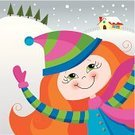 Multi Colored,Cheerful,Winter,Snow,Happiness,Enjoyment,Snowing,Playing,Playful,Fun,Teenage Girls