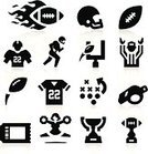 American Football - Sport,Computer Icon,Icon Set,Cheerleader,Football Helmet,Football Player,Whistle,Silhouette,Playing,USA,American Culture,T-Shirt,Trophy,Referee,Strategy,Throwing,Vector,Sport,Touchdown,Black Color,Ticket,Speed,Planning,Goal,Award,Set,Isolated,Fireball,Football Goal,Quarterback,Running,Scoring,Ilustration,Leisure Games,Sports Uniform,Ball,Flam,Collection