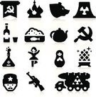 Russia,Computer Icon,Russian Ethnicity,Moscow - Russia,Icon Set,Russian Culture,Russian Nesting Doll,Vector,Silhouette,Samovar,Communism,Nuclear Reactor,Russian Cuisine,Ballet,Arms Dealer,Musical Instrument,Russian Military,Russian Tea,Collection,Vodka,Isolated,Set,Castle,matrioska,Machine Gun,Weapon,Men,Alcohol,Nuclear Missile,Vodka Bottle,Caviar,Technology,Ilustration,Cultures,golden egg,Former Soviet Union,AK-47,Kremlin,Black Color,Bear,balalaika,Kalashnikov