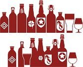 Beer - Alcohol,Beer Bottle,Hop,Barley,Bitter,Lager,Vector,Whole Wheat,Ilustration,Pub,Frothy Drink,Equipment,Bottle,Clip Art,Drink,Draught,Leaf,Vacations,Label,St. Patrick's Day,Rowing,Alcohol,Mug,Container,Full,Glass - Material,Clover,Set,Drinking,Ingredient,White,Glass