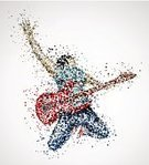 Popular Music Concert,Pop Musician,Guitar,Abstract,Adolescence,Rock and Roll,Silhouette,People,Music,Circle,Ilustration,Guitarist,Energy,Men,Musician,Dancing,Musical Instrument,One Person,Isolated,Vector,Remote,Party - Social Event,Art,Acoustic Guitar,Musical Theater,Playing,Audio Available Online,Performer,Shape,Acoustic Instrument,Male,Performance