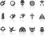 Symbol,Computer Icon,Yeti,Ghost,Egypt,Human Eye,Pyramid Shape,Pyramid,UFO,Town Of Egypt,Moai Statue,Monster,Icon Set,Black Hole,Monument,Alien,Black And White,Demon,Mystery,Moon Surface,Planetary Moon,Digitally Generated Image,Moon,Meteorite,Witch,Ancient Civilization,Palace,Grave,Vampire,Human Skeleton,Religion,Horror,Simplicity,Easter Island,White Background,Black Color,Planet - Space,Spooky,Cross,Cross Shape,Spirituality