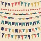 Bunting,Chevron,Flag,Retro Revival,Pattern,Old-fashioned,Pennant,Birthday,Party - Social Event,Garland,Triangle,Scrapbook,Vector,Polka Dot,Bow,Star Shape,Celebration,Heart Shape,Design,Cute,Set,Multi Colored,Clip Art,Ilustration,Decoration,Ornate,Design Element,Bow