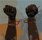 Chain,Breaking,Broken,Human Hand,Black History,Slavery,Handcuffs,Black History Month,Freedom,Ball and Chain,Fist,Abstract,abolish,African Ethnicity,African Descent,Men,Vector,Escape,People,Strength,Link,Colors,Pride,Ilustration