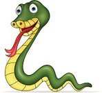 Snake,Cheerful,Green Color,Humor,Happiness,Isolated,Fun,Reptile,Ilustration,Characters,Vector,Mascot,Cartoon,Smiling