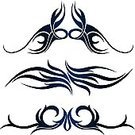 Indigenous Culture,Tattoo,Vector,Design,Design Element,Black Color,swirly,Set,Abstract,Swirl,Collection,Shape,White