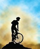 Mountain Bike,Mountain Biking,Cyclist,Cycling,Back Lit,Silhouette,Vector,Mountain Ridge,Bicycle,Exercising,High Up,Men,Mountain Peak,Mist,Action,Riding,Lifestyles,Ilustration,Adventure,Extreme Sports,Sky,Outdoors,Photo-Realism,Recreational Pursuit,gradient mesh,Dramatic Sky,Sport,Cycle,Outline