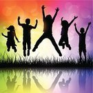 Child,Jumping,Silhouette,Playful,Back Lit,Childhood,Happiness,Vector,Fun,Backgrounds,Springtime,Multi Colored,Little Boys,Computer Graphic,Freedom,Group Of People,Little Girls,Abstract,Outdoors,Vibrant Color,Elementary Age,8-9 Years,6-7 Years,Ilustration,Copy Space,Small Group Of People,4-5 Years,Reflection,Sunset,Square,Exhilaration