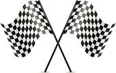 Formula One Racing,Sports Race,Grand Prix,Flag,Crossing,Rally Car Racing,Car,Starting Line,Checked,The End,Finishing,Competition,White,Speed,Black Color,Symbol,Curve,Sport,Isolated,Colors,Motocross,Vector,Ilustration,Winning,Drag Racing