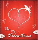 Valentine Card,Pattern,Bird,Gift,February,valentine day,Spotted,Red,Celebration,Valentine's Day - Holiday,Cute,Bonding,Love