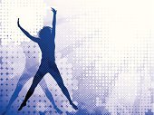Teenager,Backgrounds,Silhouette,Back Lit,Gymnastics,Modern,Music,Cool,Action,Grunge,Dancing,Hip Hop,Fashion,Dancer,Painted Image,Rap,Stunt,Design,Activity,Blue,Design Element,High Jump,Flying,Breakdancing,Nightlife,Jumping,Skill,Party - Social Event,Decoration,Sport,Style