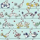 Lovebird,Cheerful,Couple,Love,Blue,Romance,Pattern,Connection,Bird,Wallpaper Pattern,Summer,Heart Shape,Affectionate,Pair,Abstract,Pets,Branch,Animal,Springtime,Vector,Celebration,Valentine's Day - Holiday,Flirting,Ilustration,Cute