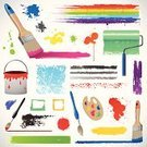 Paintbrush,Ilustration,Paint,Spray,Spraying,Splattered,Drop,Lens Brush,Ink,Dirty,Spotted,Symbol,Pencil,Multi Colored,Grunge,Red,Orange Color,Green Color,Blue,Part Of,Painted Image,Splashing,Cartoon,Paintings,Funky,Rainbow,Design Element,Design,Liquid,Blood