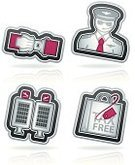 Seat Belt,Arrival,Business Travel,Leaving,White,Vector,Travel,Summer Break,Bag,White Background,Red,Gray,Sign,Symbol,Shopping Bag,Airport,Pilot,Blue,Vacations,Pink Color