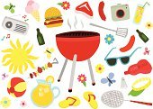 Picnic,Barbecue,Barbecue Grill,Group of Objects,Single Flower,Flower,Ilustration,Sun,Set,Kebab,Butterfly - Insect,Burger,Sausage,Badminton,Beer Bottle,Drink,Bottle,Food,Cap,Cooking,Summer,Multi Colored,Sandal,Radio,Flip-flop,Suntan Lotion,Day,Steak,Beer - Alcohol,Spatula,Hobbies,Vector,Ice Cream,Lemonade,Camera - Photographic Equipment,Ball,Sunglasses