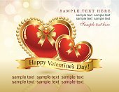 Vector,Love,Romance,Star Shape,Red,Decoration,Gift,Backgrounds,Heart Shape,Gold Colored,Celebration,Valentine's Day - Holiday,Valentine Card,Announcement Message,Greeting