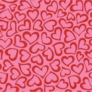 Heart Shape,Backgrounds,Valentine's Day - Holiday,Pattern,Seamless,Pink Color,Red,Love,Textured Effect,Vector,Design,Color Image,Abstract,Ilustration,Fun,Cool,Decoration,Shape,Elegance,Repetition