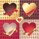 Variation,Romance,Label,Greeting,Frame,Valentine Card,Heart Shape,Valentine's Day - Holiday,Backgrounds,Symbol,Ribbon,Empty,Pattern,Shape,Gold Colored,Collection,Part Of,Red,Sign,Design Element,Set,Love,Banner,Celebration,Metallic,No People,Vector,Blank