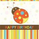 Birthday,Ladybug,Scrapbook,Beetle,Insect,Circle,template,Frame,Abstract,Vector,Ilustration,Greeting Card,Greeting