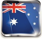 Australian Flag,Square Shape,Symbol,Computer Icon,Application Software,Keypad,Label,Backgrounds,Push Button,Frame,Shiny,Computer Keyboard,Design Element,Flag,Silver Colored,Silver - Metal,Bright,Metallic,Australia,Metal,Design,Interface Icons,Style,Glass - Material,Brightly Lit,Insignia,Ilustration,Vector,Vibrant Color,Patriotism