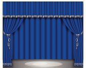 Curtain,Grid,Classical Style,Backgrounds,Empty,Entertainment,Color Gradient,Stage Theater,Indoors,Movie Theater,Auditorium,Vector,Backdrop,Illustrations And Vector Art,Curtain Tie,No People,Color Image,Ilustration,Stage Light,Catwalk - Stage