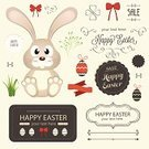 Easter Bunny,Easter,Rabbit - Animal,Frame,Easter Egg,Ribbon,Baby Rabbit,Ilustration,Flower,Label,Floral Pattern,Animal Egg,Badge,Backgrounds,Seal - Stamp,Ornate,Icon Set,Design Element,Baby Chicken,Set,Vector,Computer Icon,Colors,Grass,Holiday,Part Of,Single Object,Banner,Red,Symbol,Calligraphy,Picture Frame,1940-1980 Retro-Styled Imagery,Insignia,Nature,Bow,Joy,Cute,Design,Decoration,Seal - Singer,Animal,Illustrations And Vector Art,Chicken - Bird,Old-fashioned