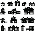 Building Exterior,Built Structure,Home Interior,House,Construction Industry,Computer Icon,Symbol,Home Showcase Interior,Residential District,Village,Vector,Residential Structure,Real Estate,Apartment,Window,Garage,Black Color,Office Interior,Market,family house,Shadow,Roof,Design,Door,Icon Set,Mansion