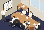 Isometric,Board Room,Video Conference,Business Meeting,White Collar Worker,Meeting,Desk,Office Interior,Staff Meeting,Teamwork,Shareholder's Meeting,Team,Note Pad,Flow Chart,Group Of People,Business,CEO,Business Person,Conference Call,Office Meeting,Manager,Organization,Presentation,Managing Director,Leadership,Corporate Business,Office Worker,Conference,Panel Discussion,Joint Meeting,Planning,Paperwork,Strategy,Brainstorming,Graph,Small Office
