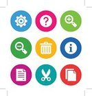 Computer Icon,Symbol,Document,Help,Assistance,Question Mark,Garbage,Icon Set,Cutting,Interface Icons,Push Button,Connection,Button,Circle,Information Medium,faq,Clip Art,Scissors,No People,Eps10,Gear,Zoom In,Sign,Application Software,Zoom Out,Web Page,Color Image,Ilustration,Data,Magnifying Glass,Conformity,Setting,Isolated On White,Vector,Simplicity,Design Element,Set,Circular File
