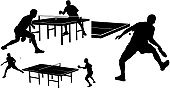 Table Tennis,Silhouette,Competition,Table,Competitive Sport,Ping Pong Ball,Ball,Individual Event,Mid Adult Men,Men,Net - Sports Equipment,Set,Playing,Equipment,Symbol,Activity,Sports Activity,Athlete,Recreational Pursuit,Racket,Indoors,Sport,Sport Symbol,Exercising,Fun,Moving Activity