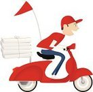 Motor Scooter,Motorcycle,Vector,Pizza Delivery Person,Riding,Men,Italy,Messenger,Pizza,Ilustration,Delivering,Speed,Red,Cheerful,Mode of Transport,Restaurant,One Person,Moped,Characters,Food,Service,Fast Food,Driving,Caucasian Ethnicity,Menu,White,Humor,Image,Design,Land Vehicle,Hat,Smiling,Box - Container,Pizzeria,Cartoon,Cute,Isolated
