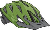 Cycling Helmet,Vector,Cycling,Isolated On White,Green Color,Clip Art,Color Image,Sports Helmet,Ilustration,Protection