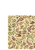 Beige,Green Color,Backgrounds,Leaf,Branch,Autumn,Seamless,Pattern,Flower,Brown,1940-1980 Retro-Styled Imagery,Floral Pattern,Painted Image,Doodle,Old-fashioned