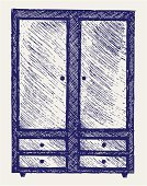 Scribble,Furniture,Closet,Drawing - Activity,Ilustration,Graffiti,Engraved Image,Hand-drawn,Single Object,Storage Compartment,Teen Pop,Handle,Sepia Toned,Art,Cabinet,Doodle,Incomplete,Simplicity,Sketch,Closed,Drawing - Art Product,1940-1980 Retro-Styled Imagery,Decor,freehand,Design,Pencil Drawing,Domestic Life,Handwriting,Outline,Scroll Shape,Image,Computer Graphic,Art Product,Vector,Creativity,Rough,Muriel Box,Indoors,Scratched