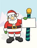 Santa Claus,North Pole,Christmas,North,Pole,Computer Graphic,Sign,Boot,Clip Art,Mitten,Placard,Holiday,Illustrations And Vector Art,Arctic,Holidays And Celebrations,Travel Locations,December,Christmas,Decoration,Winter,Cheerful,Happiness