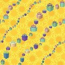 Floral Pattern,Pattern,Textile,Seamless,Box - Container,Gift,Yellow,Vector