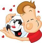 Heart Shape,Fun,Holding,Smiling,Cute,Cool,Love,favorite,Human Head,Affectionate,Humor,Admiration,Cartoon,Real People,Sport,Professional Sport,Ball,Characters,Pets,Ilustration,Hobbies,Men,Soccer Ball,Sportsman