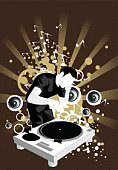 Club Dj,Radio Dj,Turntable,Clubbing,Music,Musical Symbol,Nightclub,Human Hand,Vector,Computer Graphic,Men,Drawing - Activity,Male,Sound,Variation,Abstract,Ilustration,Listening,Print,The Human Body,Color Image,Ideas,One Person,Vertical,White,Electrical Equipment,Celebration,Art Product,aciculum,Brown,handcarves,Music Mixer,Circle,People,Arts And Entertainment,Music,Art,Representing,Curve,Creativity