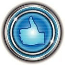Technology,Friendship,Satisfaction,Thumbs Up,Isolated,endorsement,Social Networking,Blue,Push Button,Endorsing,Sign,Interface Icons,Sale,Metallic,Marketing,Start Button,Vector,Thumb,Computer Network,Human Hand,Special,Click,New,Metal,Circle,Glass - Material,OK,Pushing,Colors,Sphere,Plastic,Shiny,Light - Natural Phenomenon,Agreement,Communication,Social Issues,Symbol,Badge,Color Image,Computer Icon,Label,Business