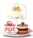 Cake,Layered,Cheesecake,Plate,Baking,Dessert,Cakestand,On Top Of,Circle,Elegance,Cherry,Food,Backgrounds,Ornate,Pastry,Fruit,Decorating,Temptation,Vector,Design,Birthday,Chocolate,Berry Fruit,Refreshment,Ilustration,White,Strawberry,Holiday,Restaurant,Isolated,Eating,Dome,Cross Section,Party - Social Event,Apricot,Event,Three Objects,Crockery,Cream,Moving Up,Gourmet,Sweet Food,Choice,Glass,Part Of,Paintings,Variation