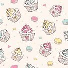 Macaroon,Candy,Wallpaper Pattern,Seamless,Cake,Cupcake,Biscuit,Gourmet,Pastry,Food,Muffin,Sweet Food,Vector,Holiday,Pattern,Cookie,Cream,Cup,Birthday,Bakery,Wrapping Paper,Backgrounds,Dessert