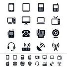 Computer Icon,Symbol,Smart Phone,Laptop,Television Broadcasting,Television Set,Icon Set,Digital Tablet,Telephone,CB Radio,PC,Mobile Phone,Satellite Dish,Wireless Technology,Computer,Headphones,Fax Machine,Walkie-talkie,Video Conference Camera,Router,Interface Icons,Camera - Photographic Equipment,Headset,Vector,Sign,Modem,Communications Tower,vector icons