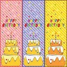 Birthday,Pie,Celebration,Anniversary,Confetti,Meal,Congratulating,Holiday,Sweet Food,Gift,Striped,Vector,Birthday Card,Dessert,Textured Effect,Candle,Celebration Event,Set,Blue,Red,Backgrounds,Star Shape,Multi Colored,Yellow,Greeting Card