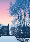 Kyiv,Winter,Monument,Town,Street,Landscape,Morning,Ukraine,Arboretum,Bench,Cold - Termperature,The Past,Twilight,Tranquil Scene,shevchenko,Dusk,Art,Frost,Park - Man Made Space,Snow,City,Snowdrift,Sunset,Branch,Bush,Ancient,Woodland,City Life,Silence,Architecture,Decor,Ilustration,Arranging,Drawing - Art Product,Urban Scene,Nature,Alley,Ornate,Memorial,Sky,Sunrise - Dawn,Tree,Night,Christmas